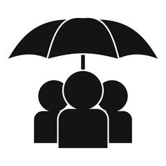 Menschen unterm Schirm