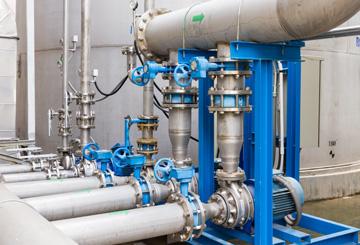 Wasserleitungen im Wasserwerk