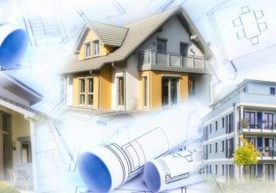 Haus mit Pläne